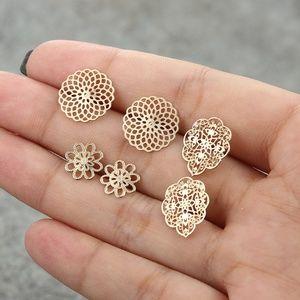 18K Gold-Plated Vintage Bohemian Earrings Set